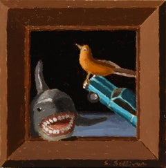 """Jump the Shark"" Oil Painting"