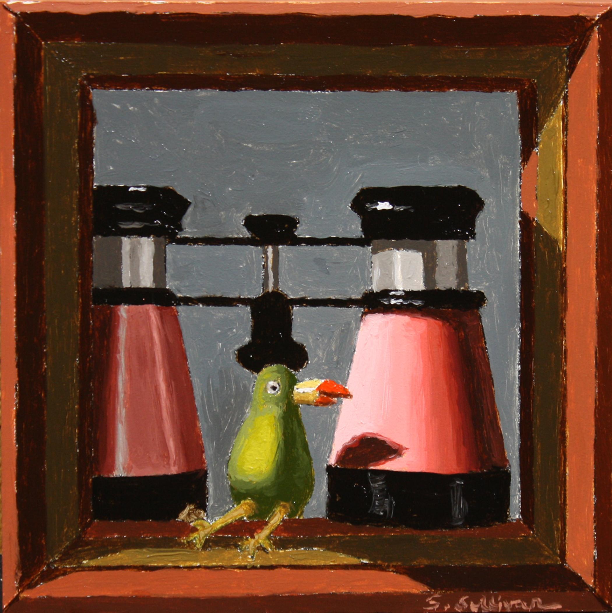 """Pink Binocs,"" Oil Painting"