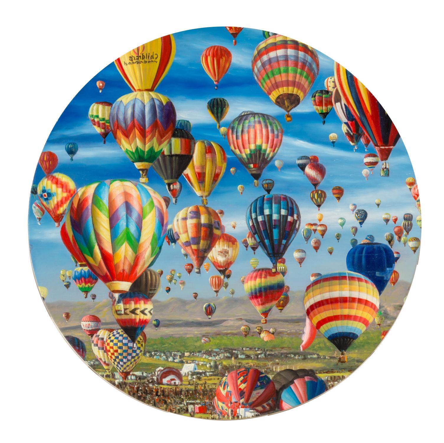 Shay Kun, Balloon air, Oil on canvas, 2017