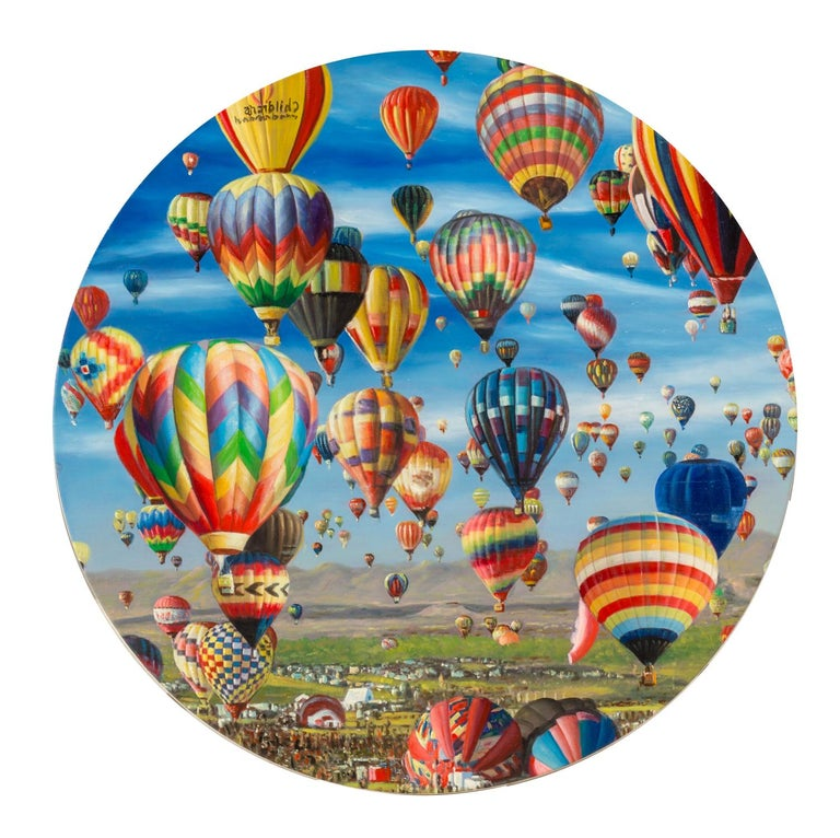 Shay Kun, Balloon air, Oil on canvas, 2017 - Painting by Shay Kun