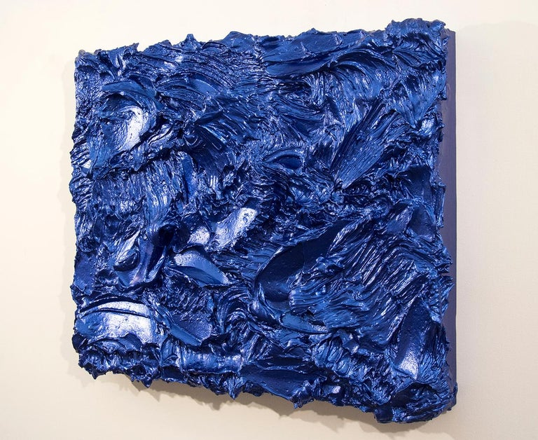 Storm Surge Cobalt - Painting by Shayne Dark