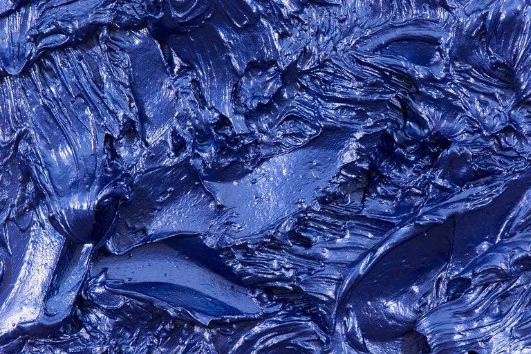 Storm Surge Cobalt - Contemporary Painting by Shayne Dark
