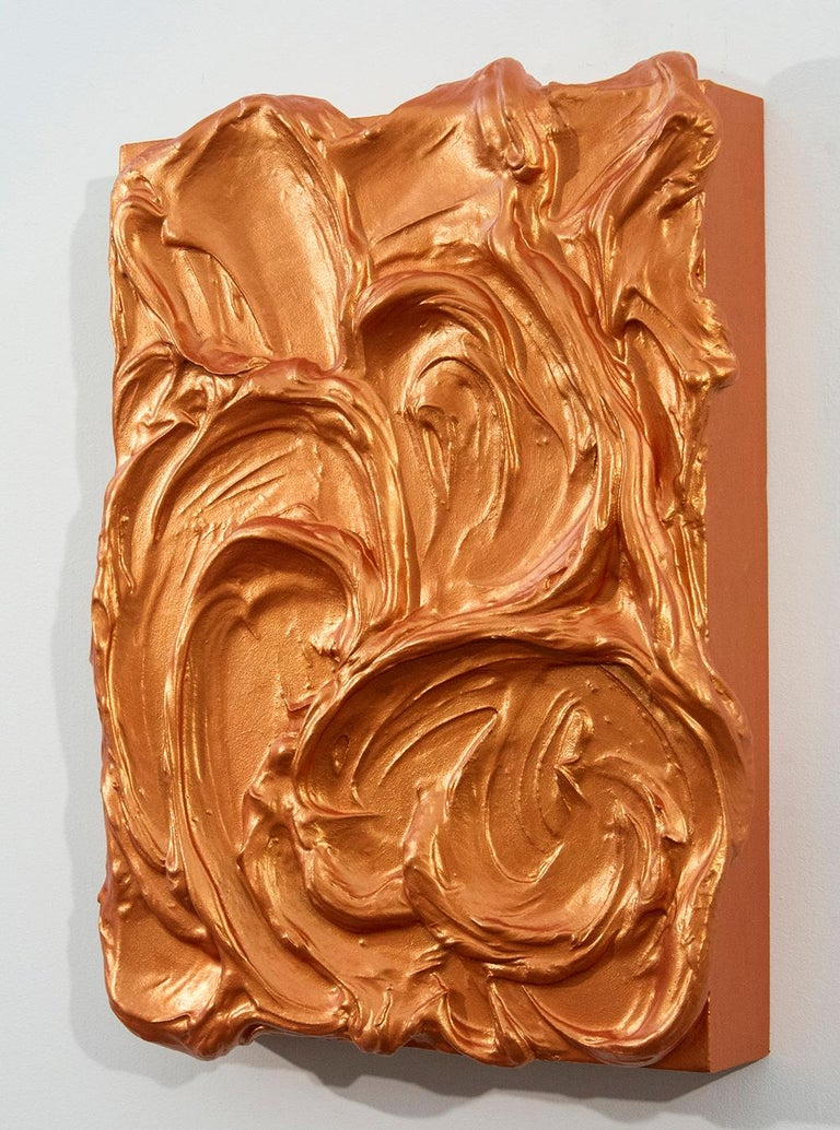 Storm Surge Orange - Painting by Shayne Dark