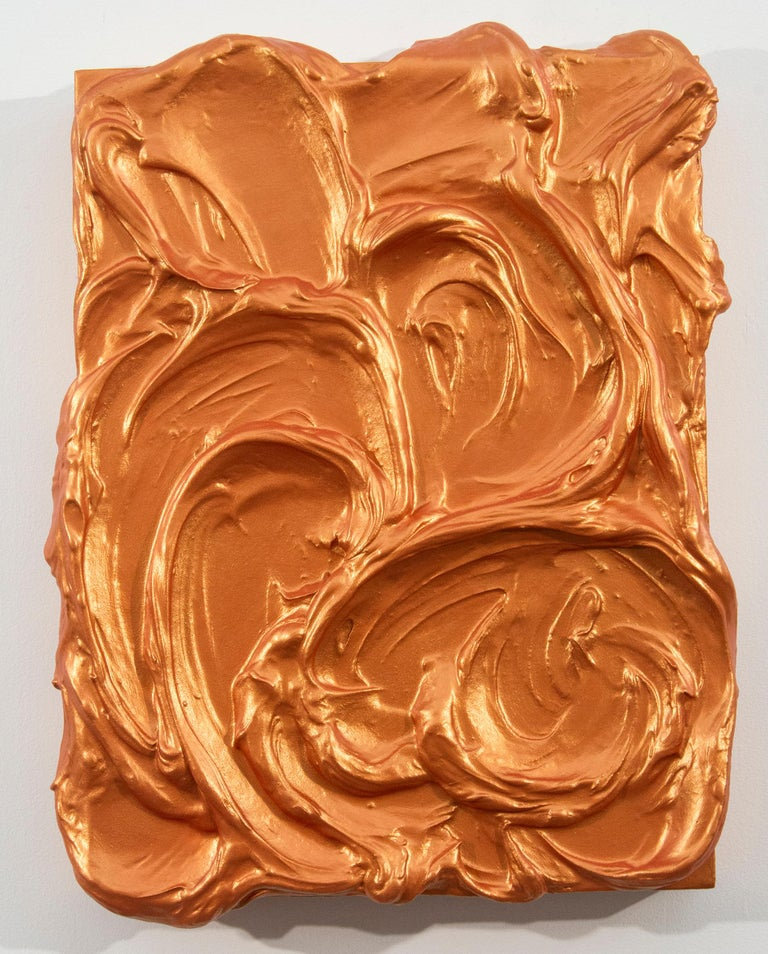 Shayne Dark Abstract Painting - Storm Surge Orange