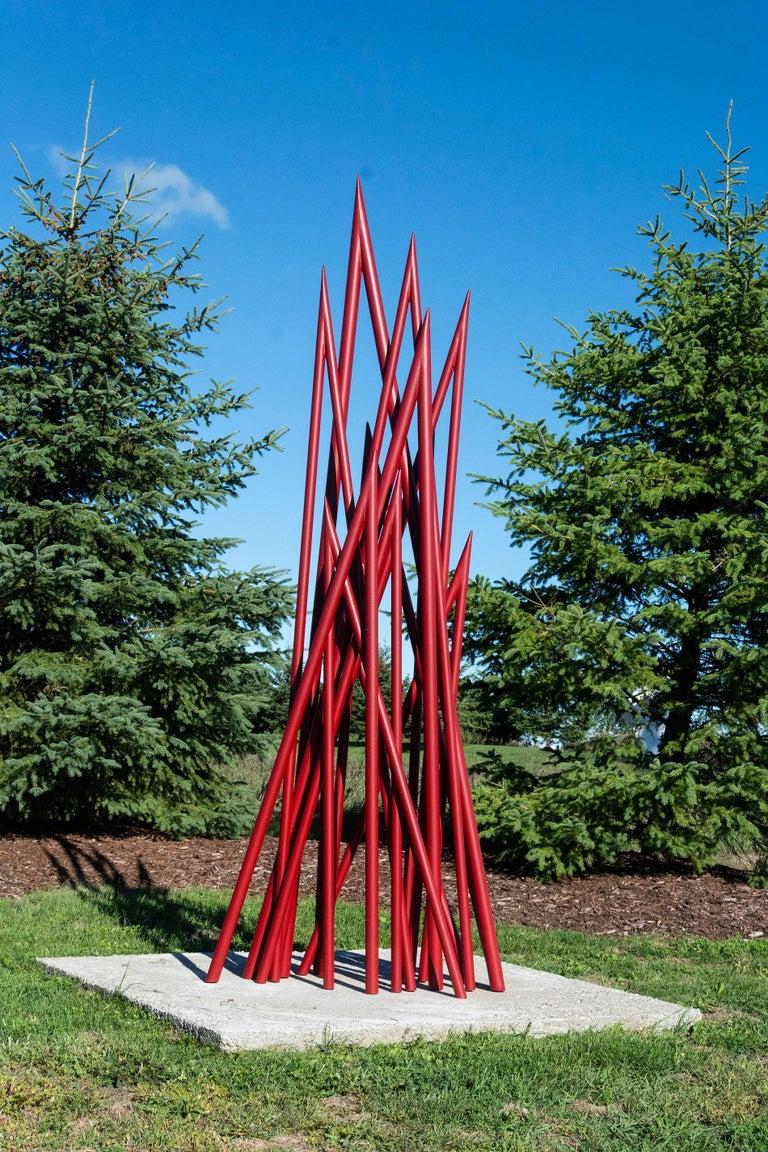 Spires - Red - Sculpture by Shayne Dark