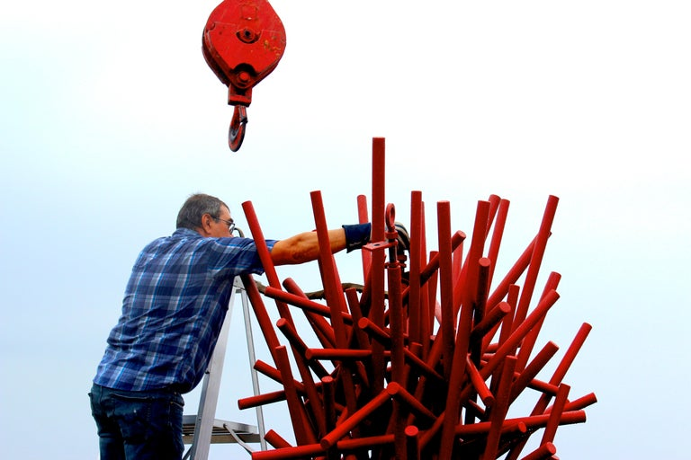 Tangled Column - Red For Sale 6