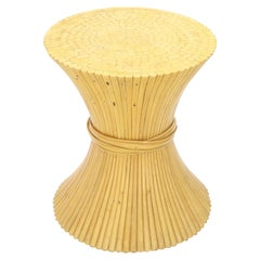Sheaf of Bamboo Wheat Round Dining Table Base McGuire