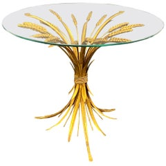 Sheaf of Wheat Hollywood Regency Gilt Table by Koegl, 1960s, Germany