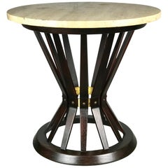 Sheaf of Wheat Side Table by Edward Wormley for Dunbar Travertine Marble Top
