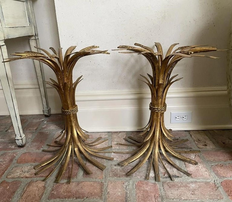 Italian Sheaf of Wheat Side Tables For Sale