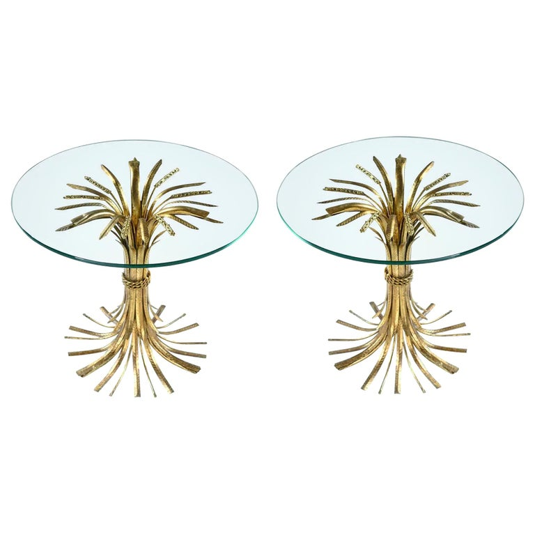 Sheaf of Wheat Side Tables For Sale