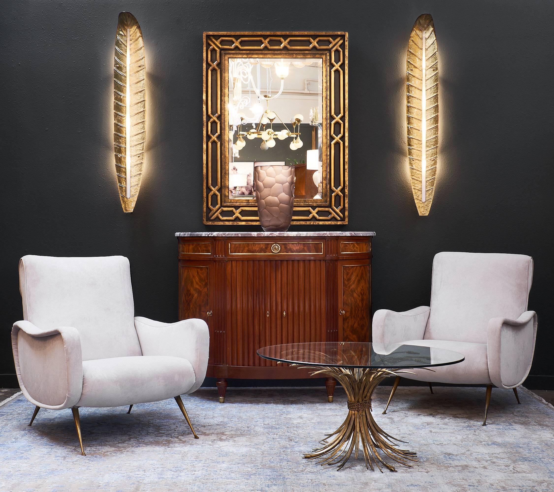 Hollywood Regency U0027Sheaf Of Wheatu0027 Vintage Coco Chanel Coffee Table For Sale