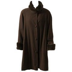 Sheared Mink-Lined Coat