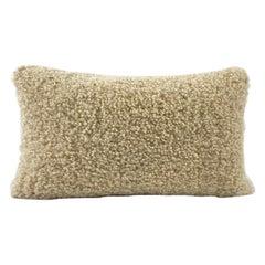 Shearling Sheepskin Pillow, Dark Linen 35x60cm