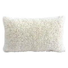 """Sheepskin Shearling Pillow Lumbar - White 35*60cm  14*24"""""""