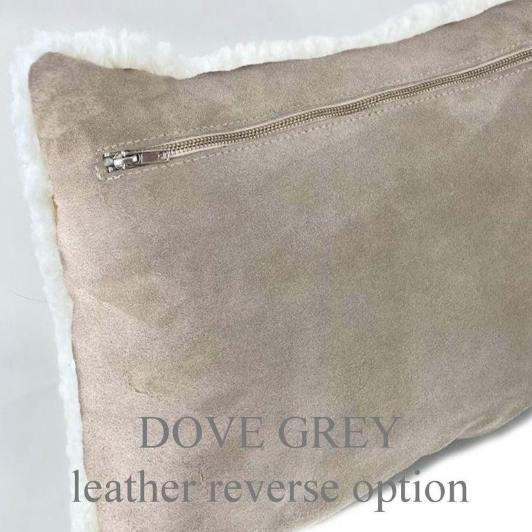 Shearling Pillow, White Sheepskin Square 18x18