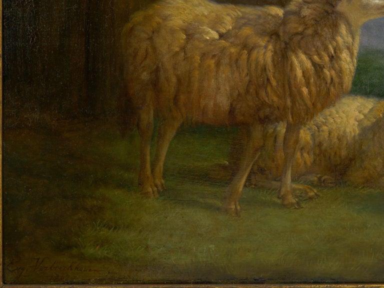 """19th Century """"Sheep at Pasture"""