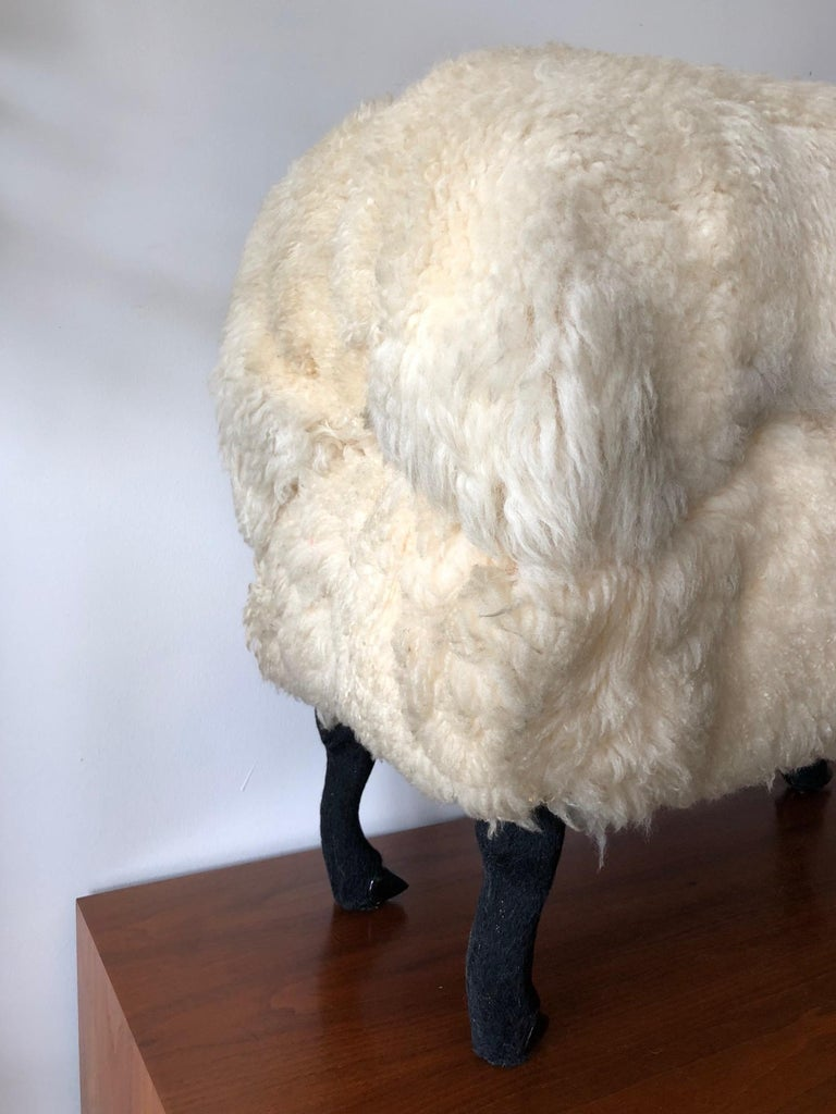 American Sheep Sculpture Ottoman in the Style of Lalanne For Sale