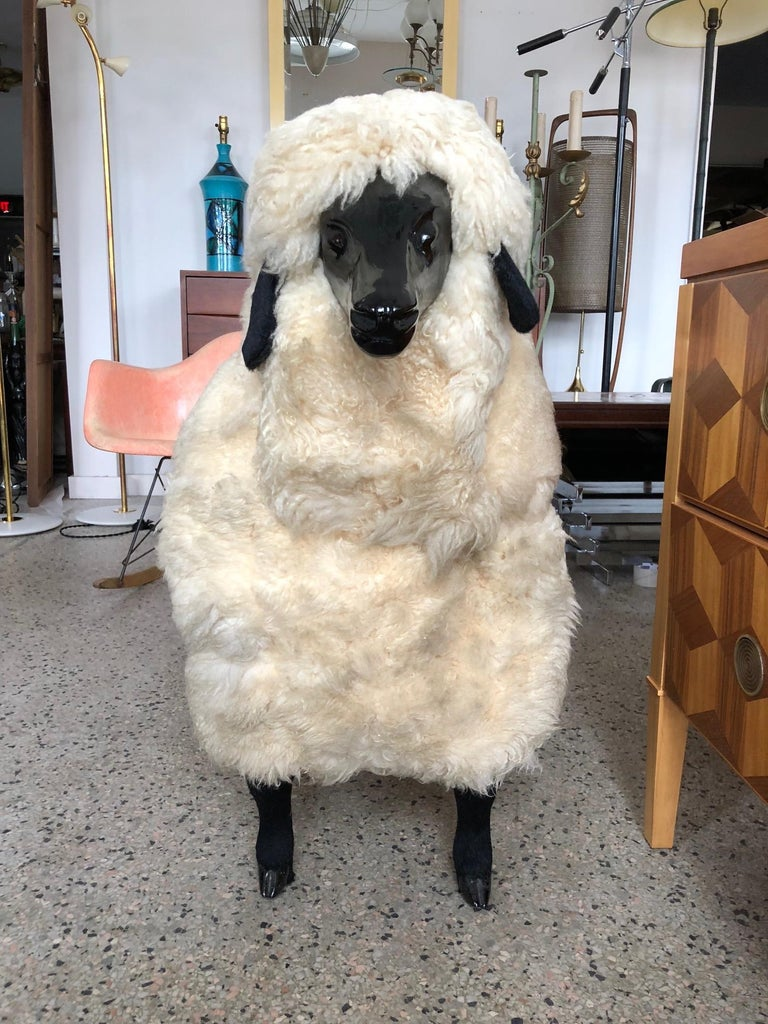 Sheep Sculpture Ottoman in the Style of Lalanne For Sale 1