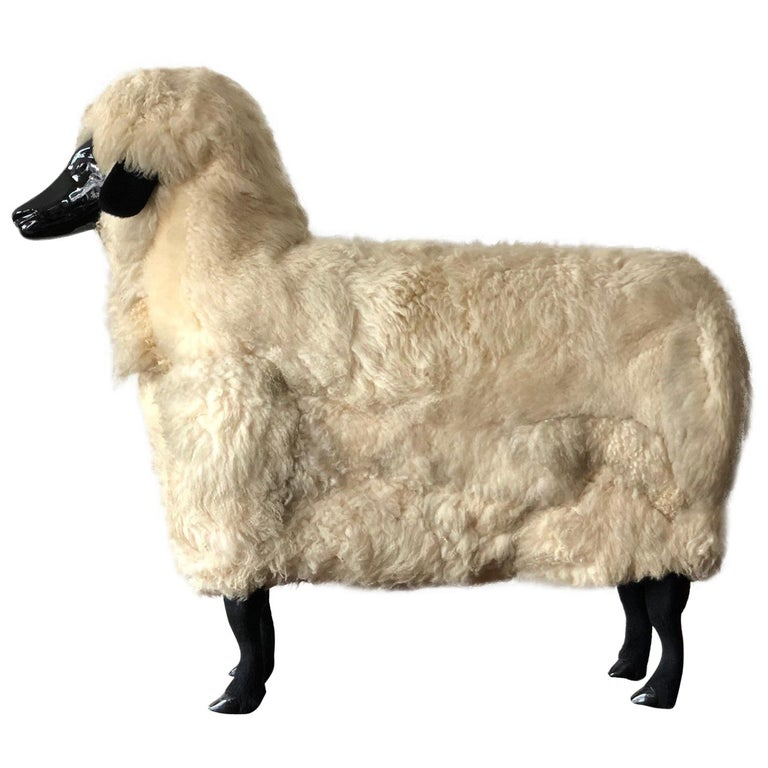 Sheep Sculpture Ottoman in the Style of Lalanne For Sale