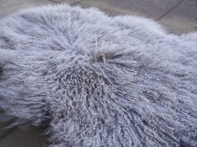 Sheep Skin rug Tibetan Mongolian long hair curley hide