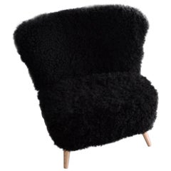 Sheepskin Cocktail Club Chair