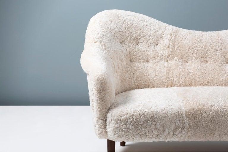 Swedish Sheepskin Samspel Sofa by Carl Malmsten, 1956 For Sale