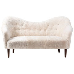 Sheepskin Samspel Sofa by Carl Malmsten, 1956