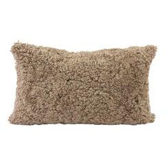 Sheepskin Shearling Lumbar Pillow, Brown Hazelnut