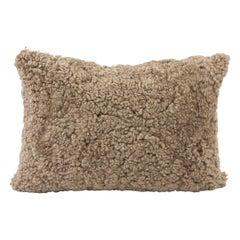 Sheepskin Shearling Pillow, Brown Hazelnut