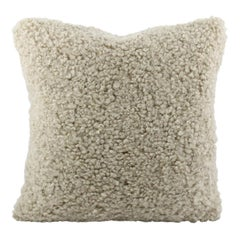 Sheepskin Shearling Pillow Cushion, Australian Curly Wool