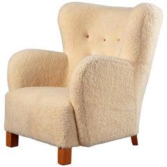 Sheepskin Upholstered Armchair