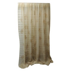 Sheer Embroidered Ecru Color Curtain Panel