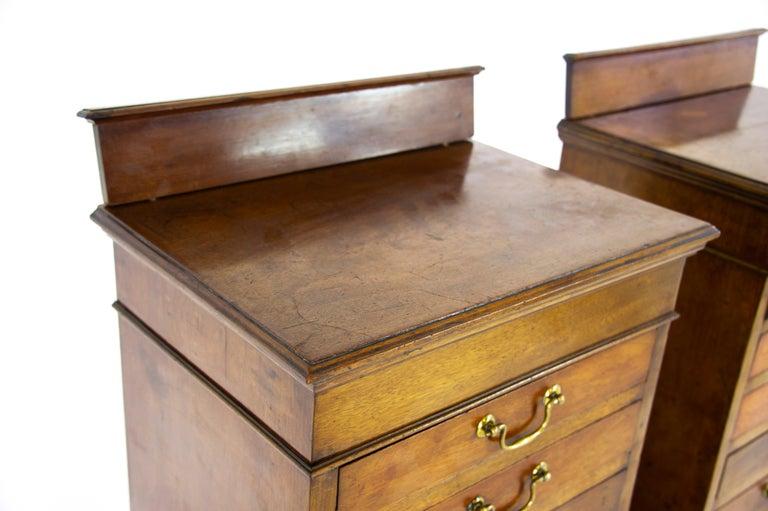 Sheet Music Cabinets, File Cabinets, Walnut, Scotland 1910