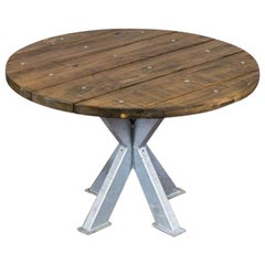 Sheffield Outdoor Patio Table, 20th Century
