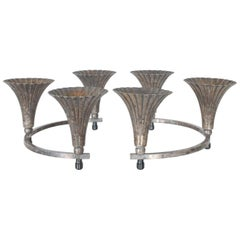 Sheffield Silver Circular Candelabra Centerpiece with 6 Candleholders