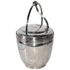 Sheffield Silver Plate Lidded Ice Bucket, USA