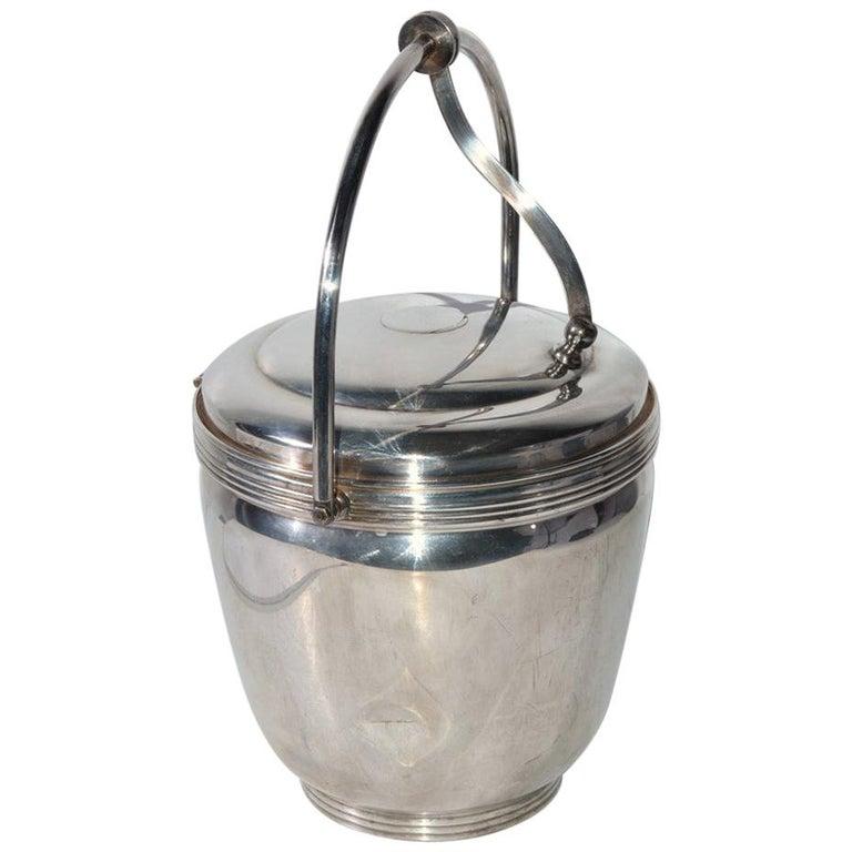 Sheffield Silver Plate Lidded Ice Bucket, USA For Sale