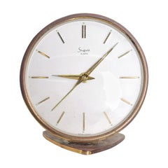 Sheffield, West Germany Table Clock Mid-Century Modern