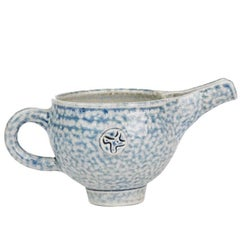 Sheila Casson Studio Pottery Blue Salt Glazed Jug, 20th Century