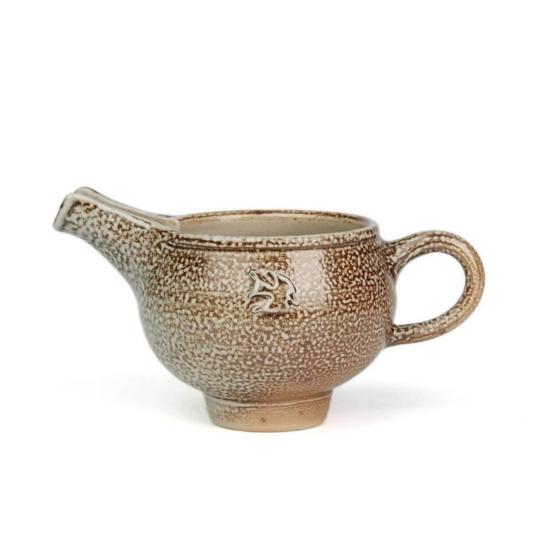 English Sheila Casson Studio Pottery Brown Salt Glazed Jug, 20th Century For Sale