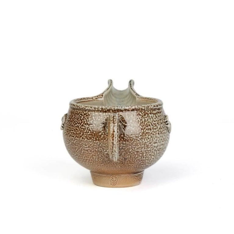Sheila Casson Studio Pottery Brown Salt Glazed Jug, 20th Century In Good Condition For Sale In Bishop's Stortford, Hertfordshire