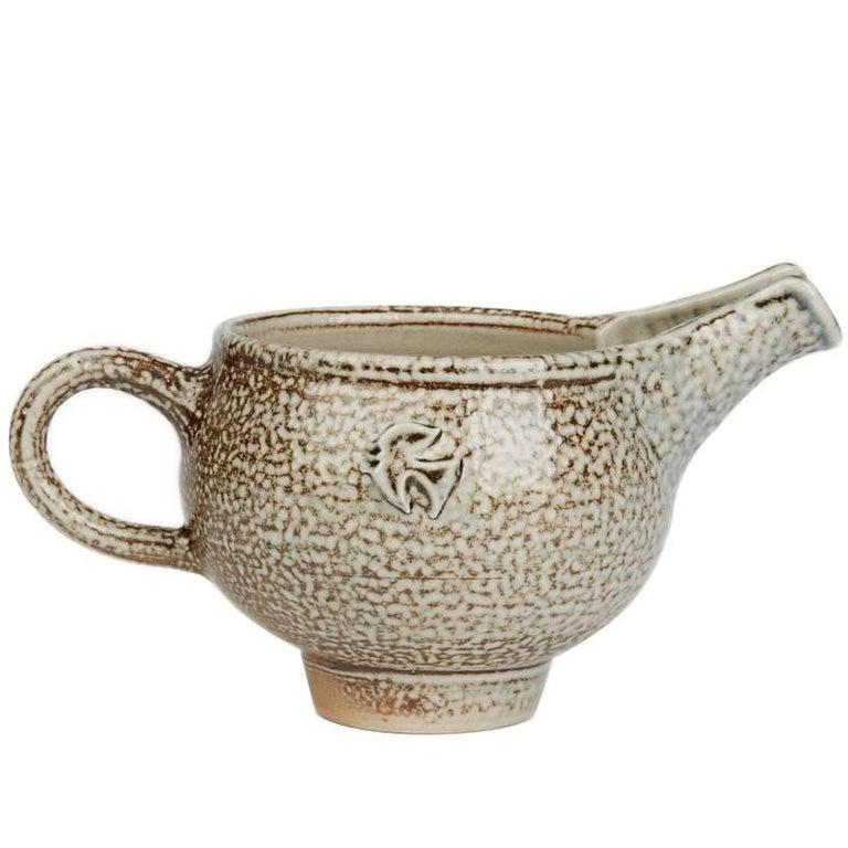Sheila Casson Studio Pottery Brown Salt Glazed Jug, 20th Century For Sale