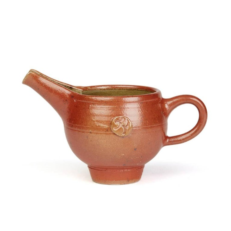 English Sheila Casson Studio Pottery Red Salt Glazed Jug, 20th Century For Sale