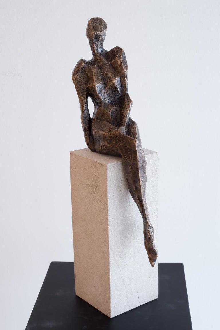 Sheila Ganch Figurative Sculpture - Resolve