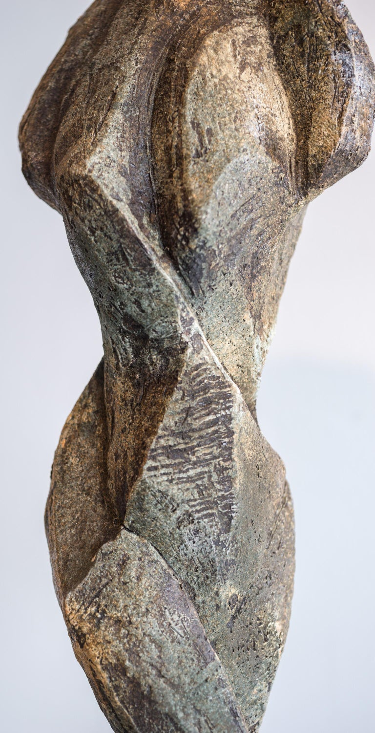 Sublime - Gray Figurative Sculpture by Sheila Ganch