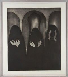 Sheila Oliner (1930-2020) - 1994 Etching, Women Who Wear Black