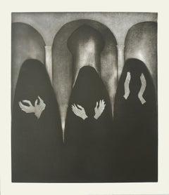 Women Who Wear Black  - Lithograph