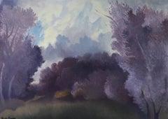 """""""Beaumont landscape"""" oil on canvas Romantic syle"""