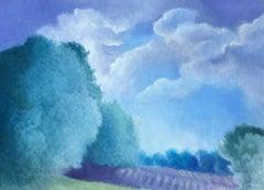 Light, romantic style oil on canvas